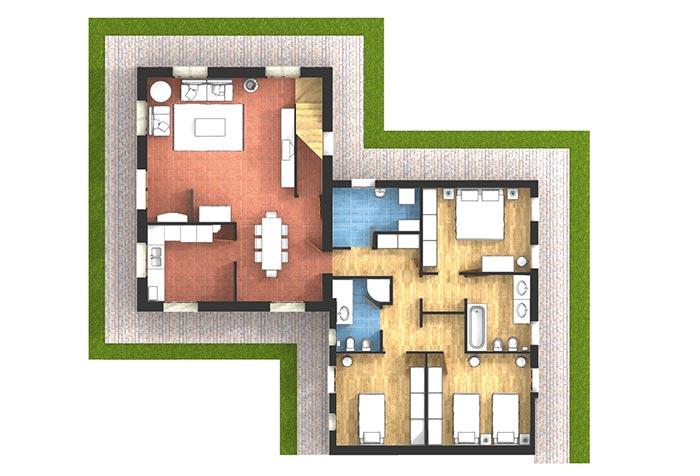 Allarme appartamento 100mq for Case ristrutturate da architetti foto